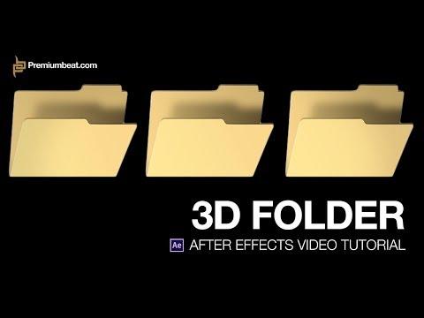 Sonra Etkileri Video Öğretici: 3D Klasör