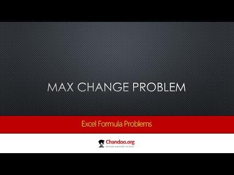 En Büyük Değişiklik Excel'de - Çeşitli Çözümler Ve Formülleri Hesaplama   Exceltutorials