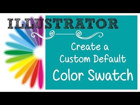 Illustrator Özel Varsayılan Renk Örneği