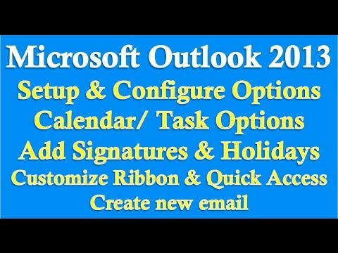 Microsoft Outlook 2013 Bölüm 1 (Kurulum/yapılandırma Seçenekleri)
