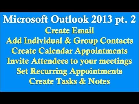 Microsoft Outlook 2013 Bölüm 2 (E-Posta, Kişiler, Takvim, Görevler, Notlar)