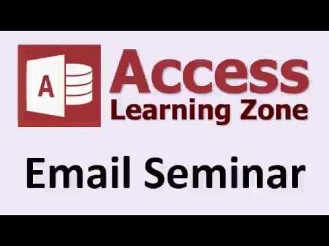 Microsoft Access E-Posta Seminer Giriş