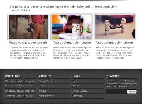 Photoshop'ta Web Tasarım Şablonu Oluşturma
