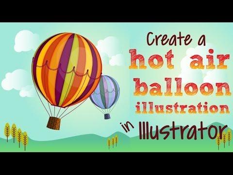 Illustrator-Bir Sıcak Hava Balonu Resim Çizmek