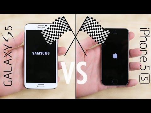 İphone Vs Galaxy S5 5S Hız Testi