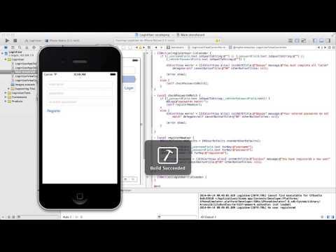 Xcode Kullanıcı Kayıt Ve Giriş Eğitimi