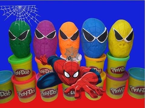 Doh Örümcek Adam Oyuncakları Sürpriz Yumurta Çal