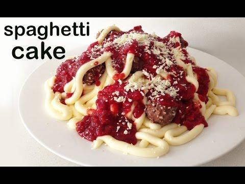 Spagetti Doğum Günü Pasta O Ann Reardon Yemek Yapmayı