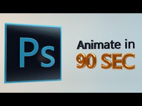 90Secs İçinde Adobe Photoshop Cs6 Animasyonlu Bir Gıf Animasyon Öğrenin