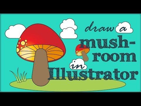 Illustrator - Mantar Karikatür Çizimi