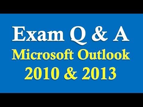 Sınav Hazırlık Microsoft Outlook 2010/2013