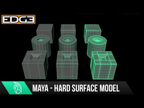 Yeni Başlayanlar - Sert Yüzey Alt Bölümü İçin Maya Öğretici / Yüksek Poly Modelleme Hızlı İntro