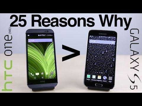 25 Nedenleri Neden Htc Bir (M8) Galaxy S5 Daha İyi