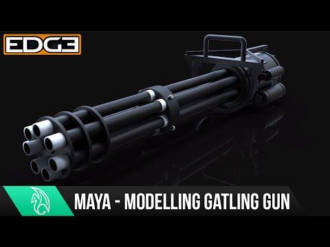 Maya Başlayanlar Öğretici - Bir Mitralyöz Silah Intro Modelleme / Zaman Atlamalı Genel Bakış Hd