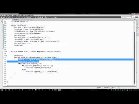 Metin Bileşenleri Sallanmaya Java Öğretici - 52 - Intro