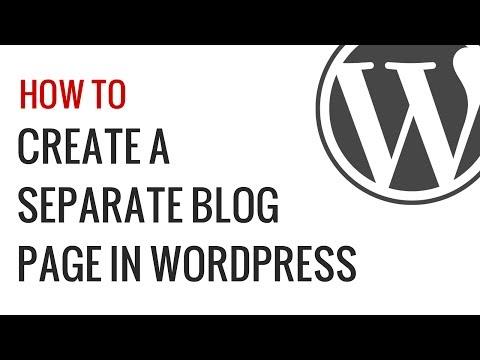 Nasıl Wordpress Günlüğü Gönderileri İçin Ayrı Bir Sayfa Oluşturmak İçin
