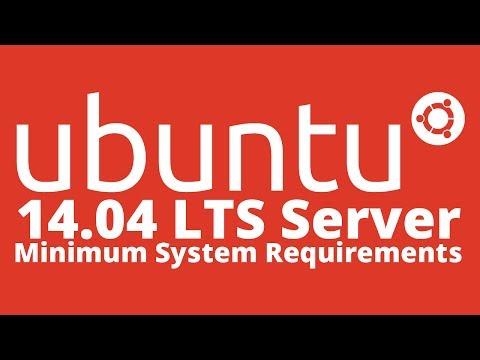 Ubuntu 14,04 Server Lts Güvenilir Tahr Minimal Sistem Gereksinimleri Nedir