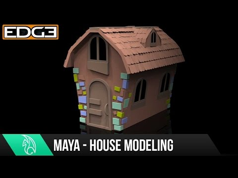 Yeni Başlayanlar İçin - #6 Maya Model Bir Çizgi Film House Öğretici 1080P Hd