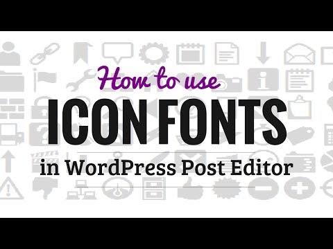 Nasıl Wordpress Posta Düzenleyicisi'nde Simge Yazı Tiplerini Kullanmak İçin