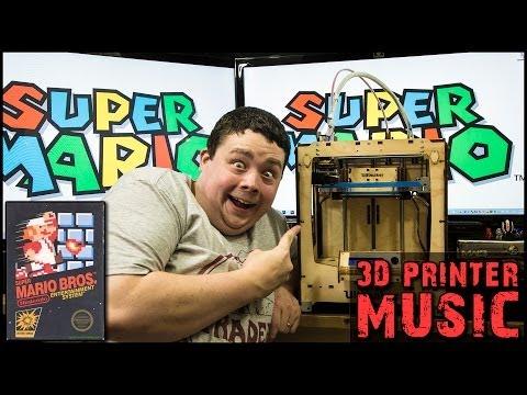 Ultimaker 3D Printerlere Harcama Maddeler Üzerinde Süper Mario Kardeşler Nes Tema Şarkı Çalınır