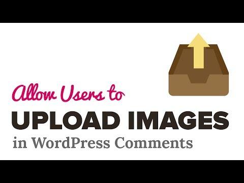 Nasıl Upload İmge İçinde Wordpress Yorum Kullanıcılara İzin Vermek İçin