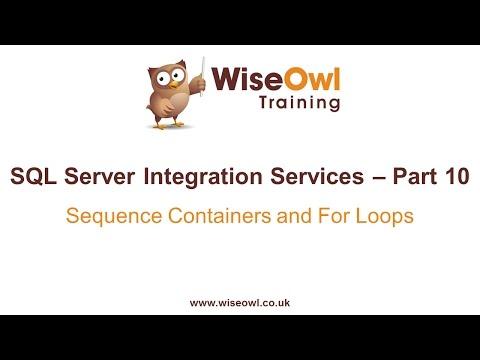 Sql Server Tümleştirme Hizmetleri (Ssıs) Bölüm 10 - Sıra Kapsayıcılar Ve Döngüler İçin