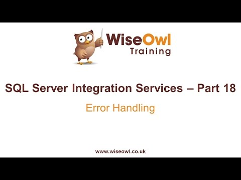Sql Server Integration Services (Ssıs) Bölüm 18 - Hata İşleme