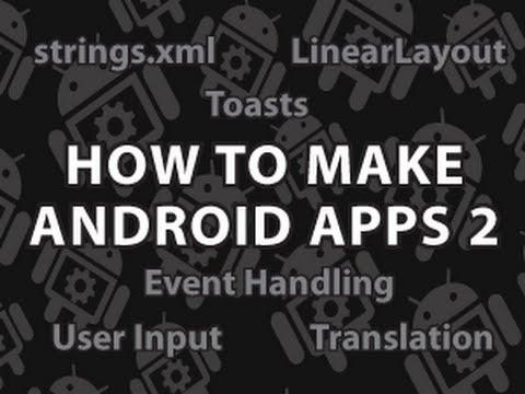 Nasıl Android Uygulamaları 2 Yapmak