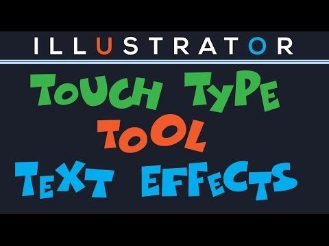 Illustrator Cc - Touch Türü Metin Efektleri