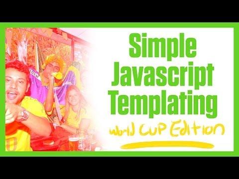 Basit Javascript Şablonu (Dünya Kupası Edition)