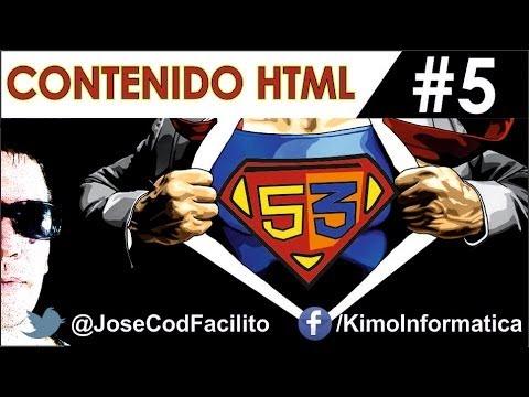 Öğretici De Html5 + Css3 - 5 - Contenido Html