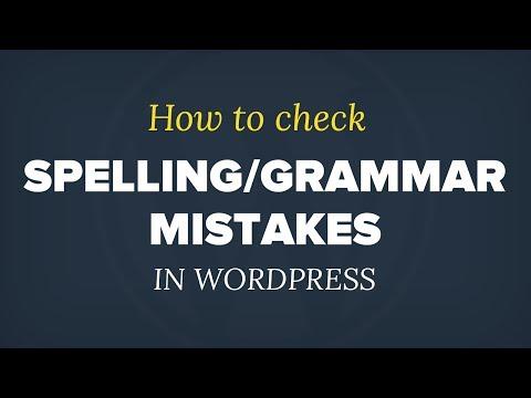 Dilbilgisi Ve İmla Hataları Wordpress Kontrol Etmek İçin Nasıl