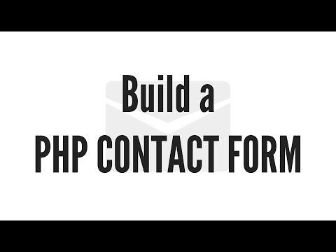 Bir Php İletişim Formu Oluşturmak