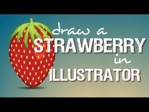 Illustrator - Çilek İllüstrasyon