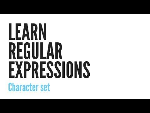 Normal İfadeler Öğrenin: Karakter Kümesi