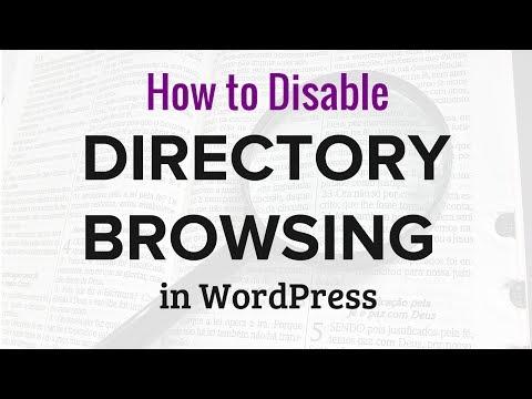 Wordpress Dizine Gözatma Devre Dışı Bırakma