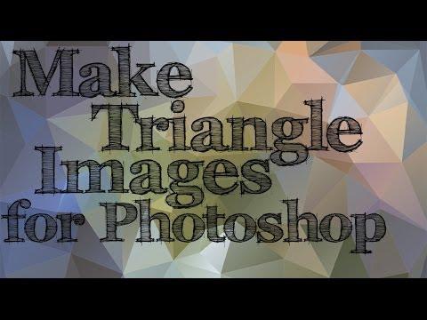 Photoshop - Üçgen Arka Planlar - Poly Sanat Etkisi