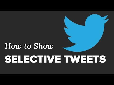 Nasıl Wordpress Seçici Tweets Göster