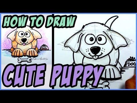Bir Köpek Yavrusu Adım Adım Çizmek İçin Nasıl   Mat