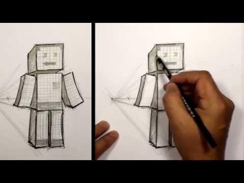 3D Minecraft Karakter Kroki Çizmek İçin Nasıl   Mat