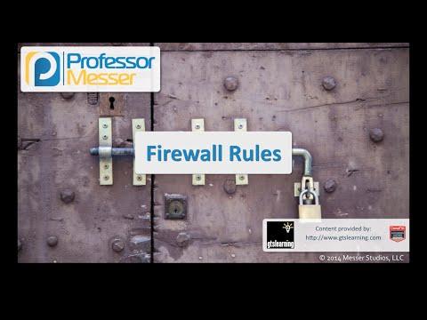 Güvenlik Duvarı Kuralları - Sık Güvenlik + Sy0-401: 1.2