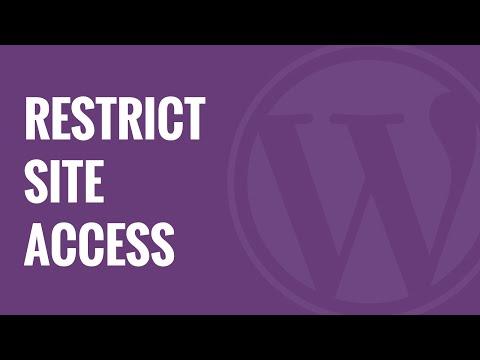 Ip Veya Oturum Açmış Olan Kullanıcılar Tarafından Wordpress Site Erişimini Engellemek Nasıl