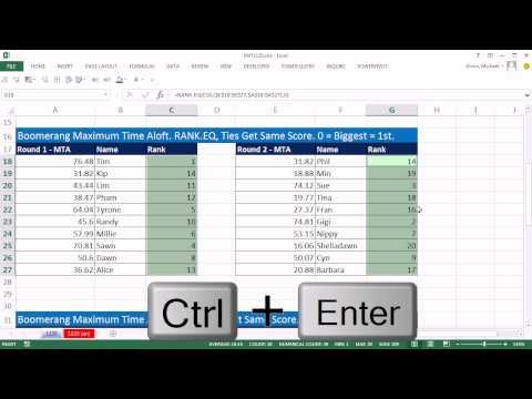 Excel Sihir Numarası 1135: Rütbe İki Sütunlarından Değerleri: Sırası. Ave, Sırası. Eq Ve Sıralama İşlevleri