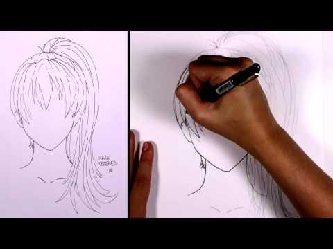 Nasıl Manga Saç - At Kuyruğu (Kız) Çizmek İçin | Mıt