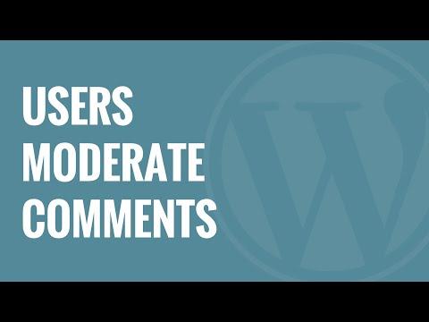 Nasıl Blog Wordpress Yorum Ilımlı Kullanıcılara İzin Vermek İçin