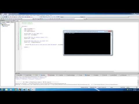 C Programlama Eğitimi - 11 - Getting Giriş Scanf İle