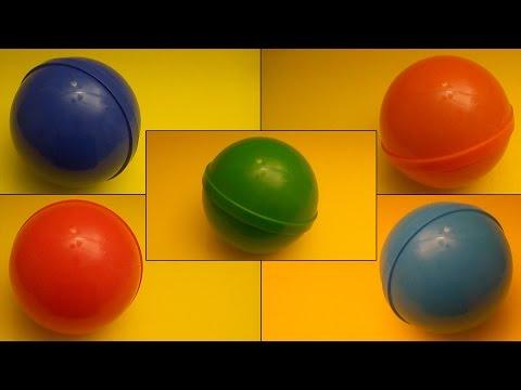 Sürpriz Yumurta Renklerle Öğrenin!  Açılış 5 Büyük Büyük Büyük Sürpriz Yumurta Ve Yazım Renkler!