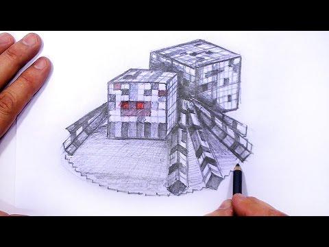 Minecraft Örümcek 3D Çizim Yapmayı   Mat