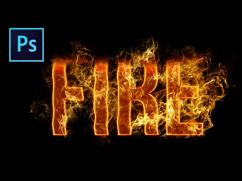 Yangın Metin Etkisi • Photoshop Eğitimi
