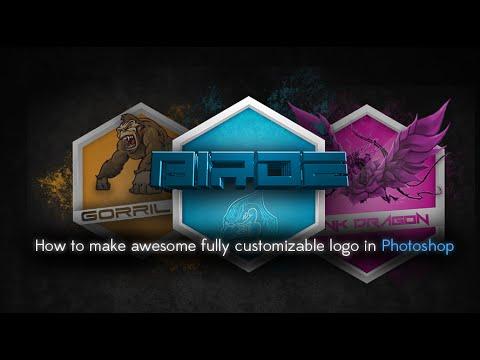 Nasıl Photoshop [Hd] Harika Tamamen Özelleştirilebilir Logo Yapmak